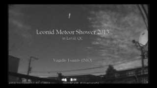 Leonids 2013 in Laval, Quebec.