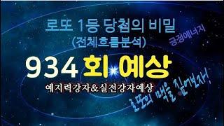 934회 로또예상 (실전강자/예지력강자/구독자종합)