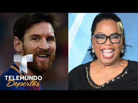 Oprah Winfrey le revela a Messi cómo ganar el Mundial   Deporte Rosa   Telemundo Deportes