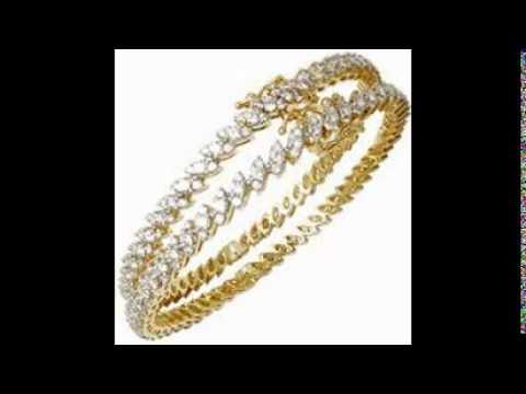Diamond Bangles Design - YouTube