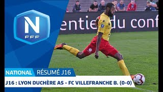 J16 : Lyon Duchère AS - FC Villefranche B. (0-0), le résumé I National FFF 2018-2019