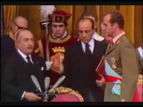 Proclaimation of Juan Carlos king of Spain