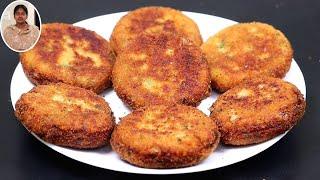 உருளைக்கிழங்கு கட்லட் ஈஸியா இதுபோல செய்து பாருங்க   Snacks Recipes in Tamil