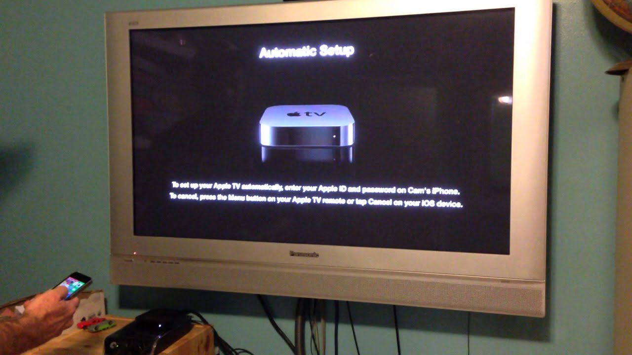 how to set up apple tv youtube
