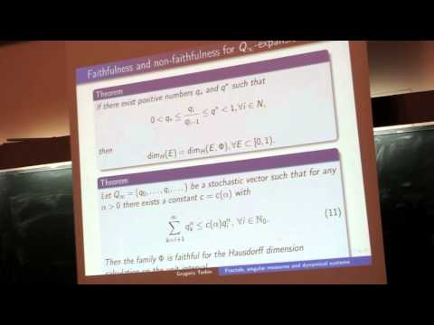 Grygorii Torbin -  Fractals, singular probability measures, and dynamical systems