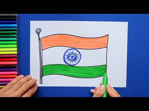 How to draw and color the National Flag of India
