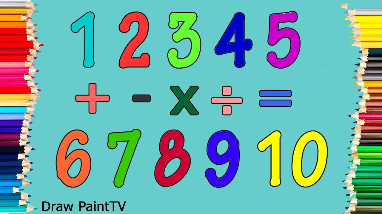 Baby Learn Colors and Numbers 1 - 10 with Paint | Coloring Pages ...