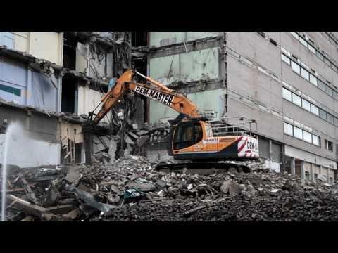 Dem-Master Demolition Hyundai 220 with Hammer Attachment