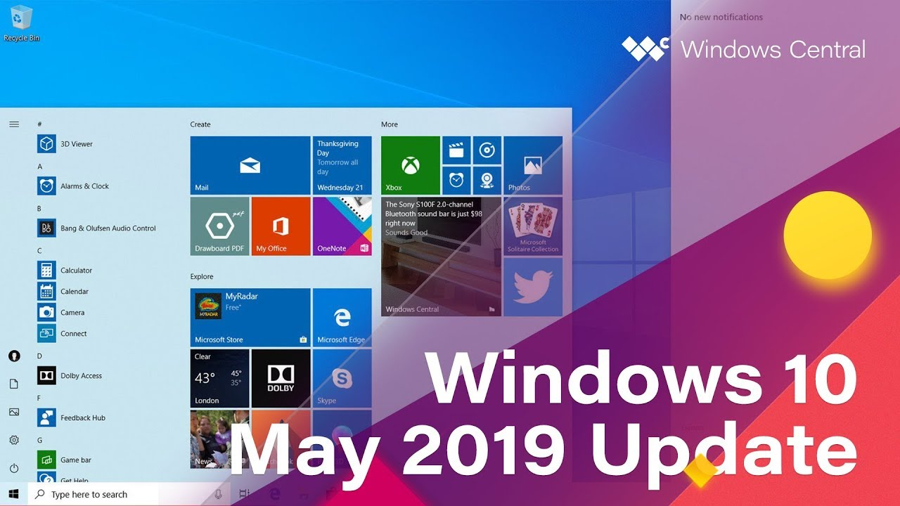 Windows 10 May 2019 Update: The complete changelog | Windows