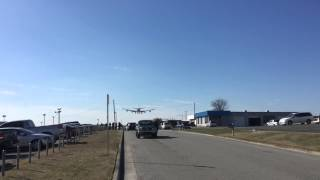 Air Force 1 and Air Force 2 landing at Knoxville TN TYS