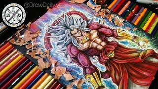 Mastered Ultra Instinct Legendary Ssj4 Perfect Kaioken Broly God drawing (Dragon Ball Ultra series)