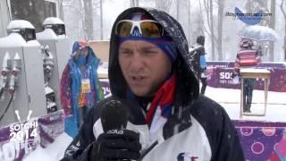 Réaction de Benjamin Daviet après sa qualification en demi-finale du 1km sprint