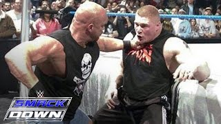 """Download """"Stone Cold"""" Steve Austin confronts Brock Lesnar days before WrestleMania: SmackDown, March 11, 2004 Mp3 and Videos"""