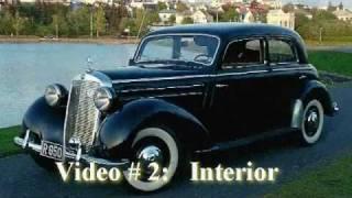 Mercedes Benz 170 S, 1951 model, interior