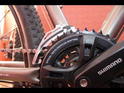 Как настроить передний переключатель велосипеда