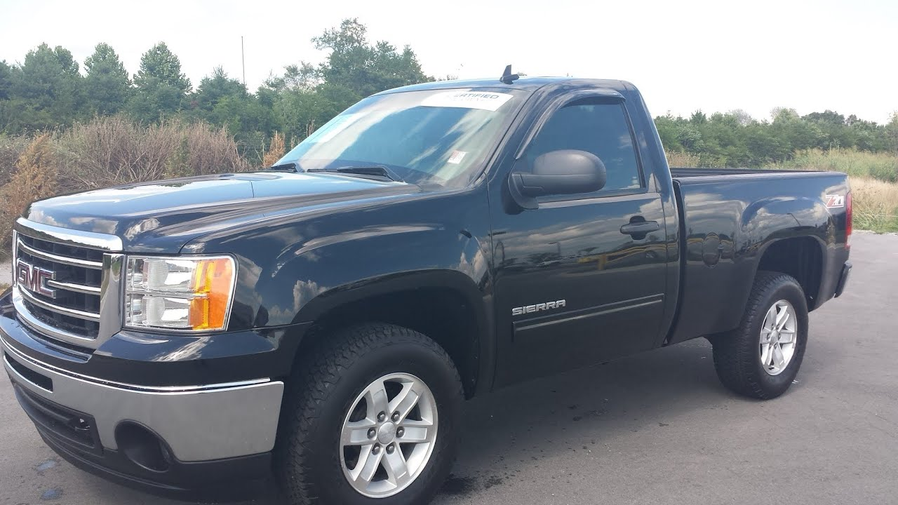 sold.2012 GMC SIERRA SLE Z71 REGULAR CAB 4X4 5.3 48K GM CERTIFIED ...