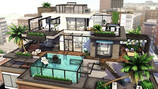 Modern Penthouse | The Sims 4 - Speed Build (NO CC)