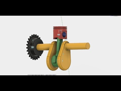 single cylinder engine+working-fusion 360