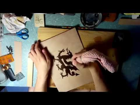 Wooden DM Screen | Pyrography (Wood Burning) Timelapse | Plywood Ent