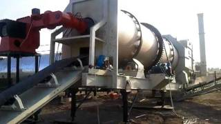 Asphalt drum mix plant  manufactured by Shitla- Road Construction equipments in india