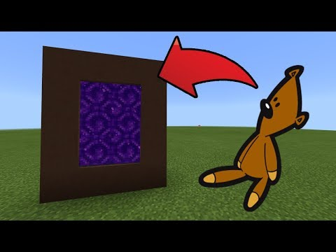 How To Make A Portal To The Mr Bean Teddy Bear Dimension In MCPE (Minecraft PE)