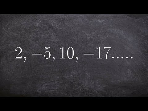 Finding the formula for a sequence of terms