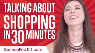Learn German in 30 Minutes - Everything you need to go shopping!