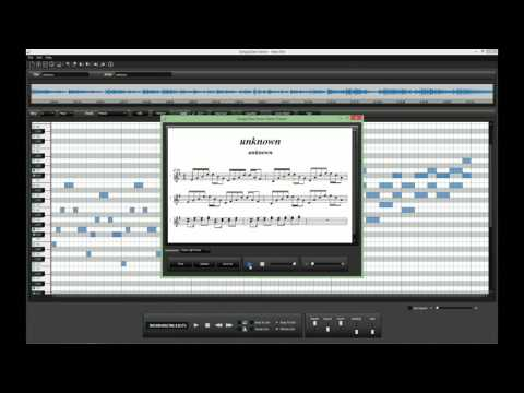 Creating sheet music for piano with Songs2See Editor