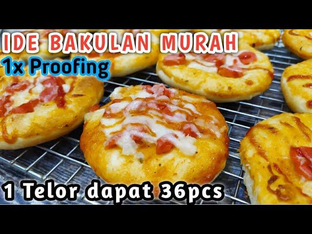 Resep Pizza Mini Ekonomis Empuk Banget Rotinya 1x Proofing Youtube