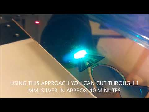 cut thick metal sheet using a low power fiber laser marking machine