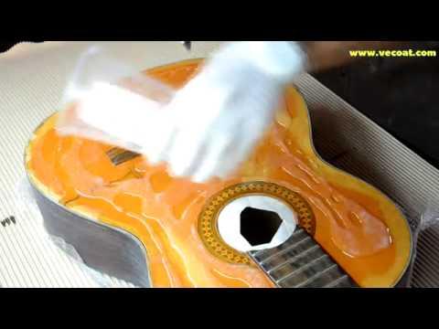 Renew Guitar with epoxy resin  แปลงกีต้าเก่าให้เก่าแบบมีสไตล์