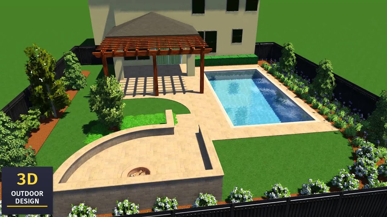 Amazing 3D Outdoor Design   3D Landscape Rendering