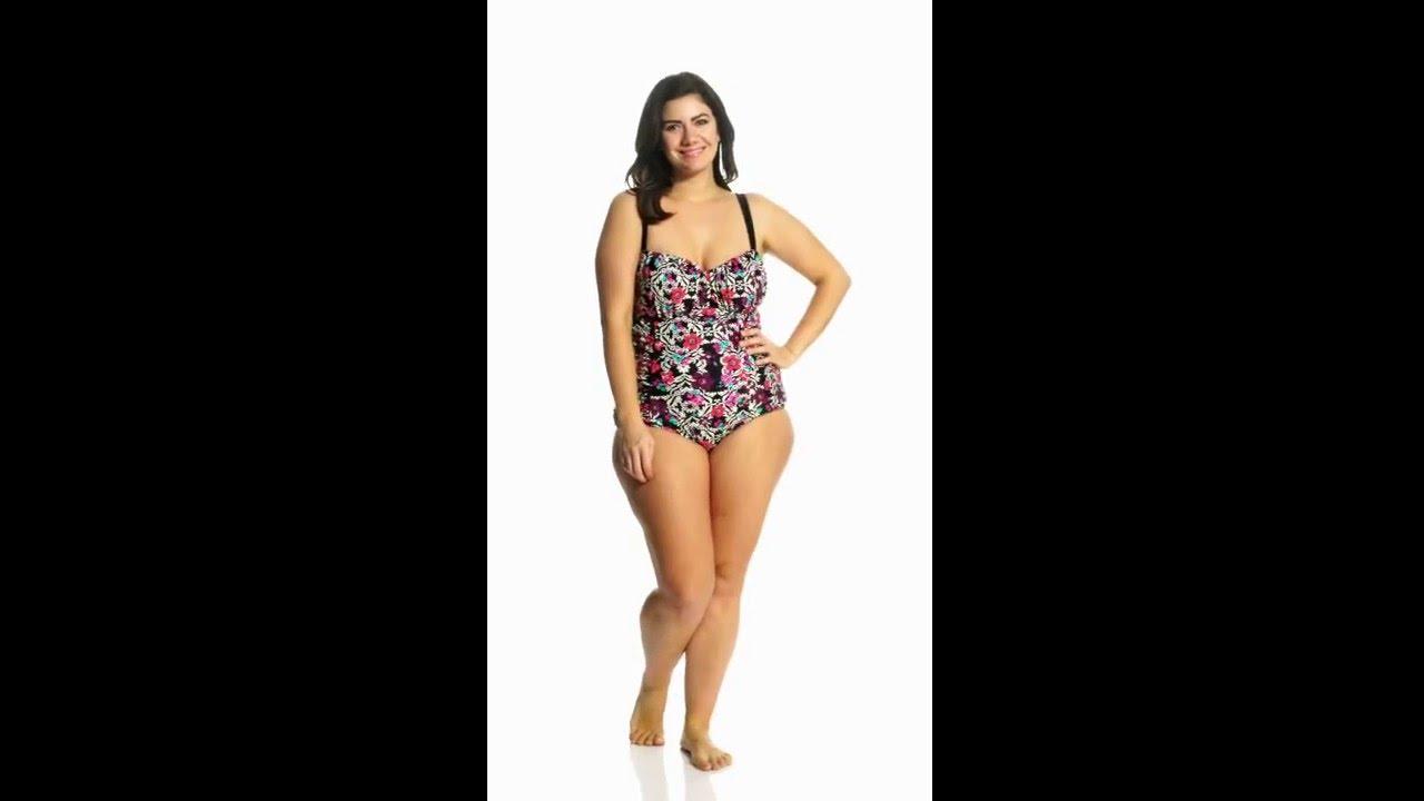 78ac2de2968 Jessica Simpson Plus Size It Girl Shirred Underwire One Piece Swimsuit
