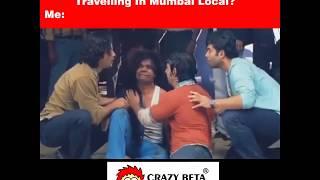 Mumbai Local Train | Crazy Beta | Women T Shirts Online | Funny Video | Crazy Prank