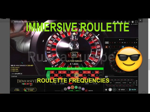 IMMERSIVE ROULETTE 🔥 European Roulette Strategy 🥇 Roulette Frequencies