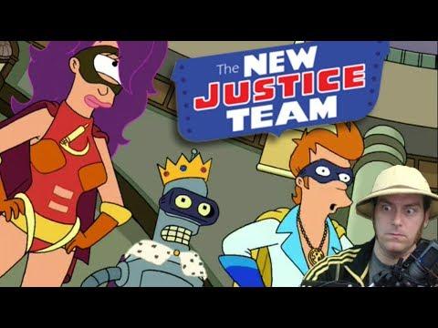 New Justice Team, week 1 -- Futurama, Worlds of Tomorrow