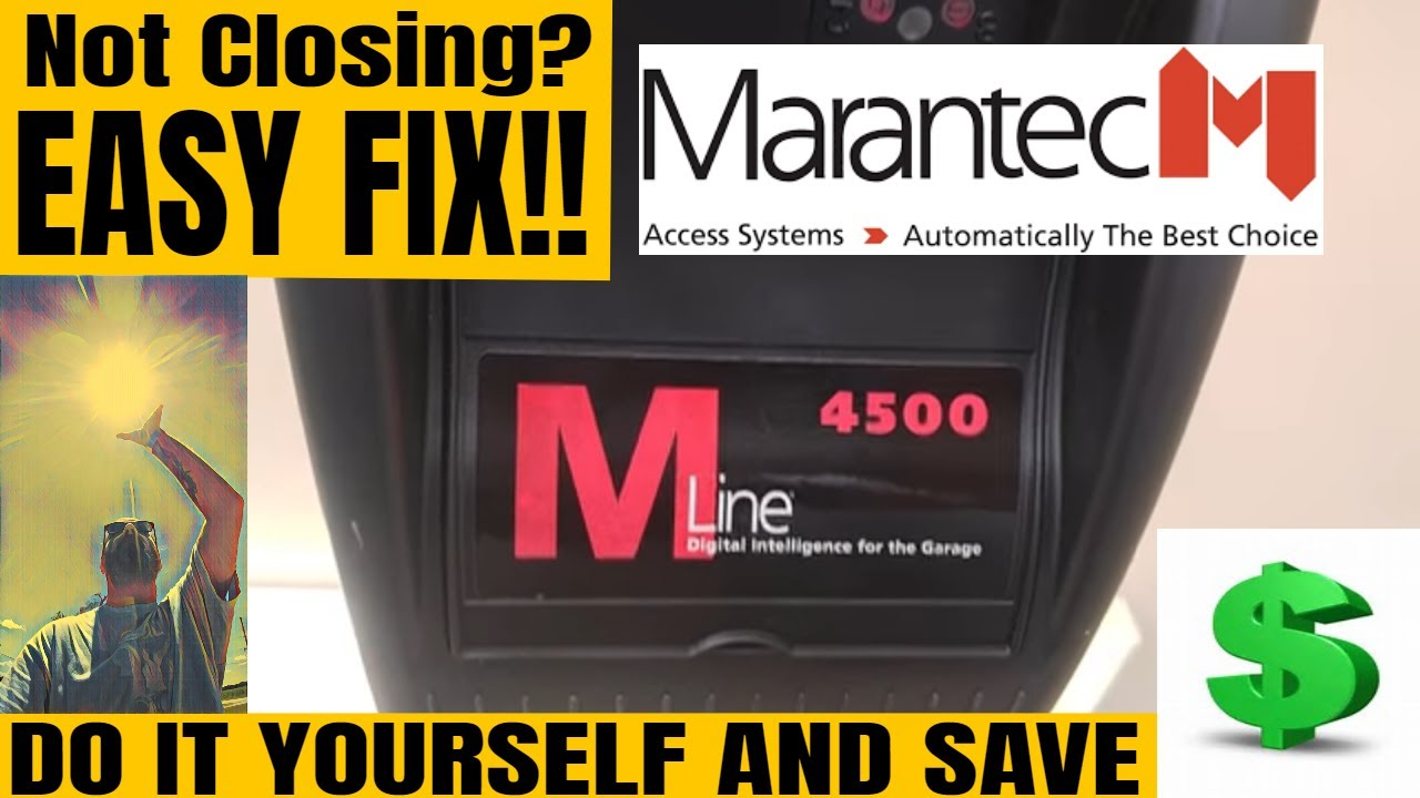 small resolution of  marantec garage door opener closing problems