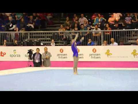 Anastasia SIDOROVA RUS, Floor Senior Qualification, European Gymnastics Championships 2012