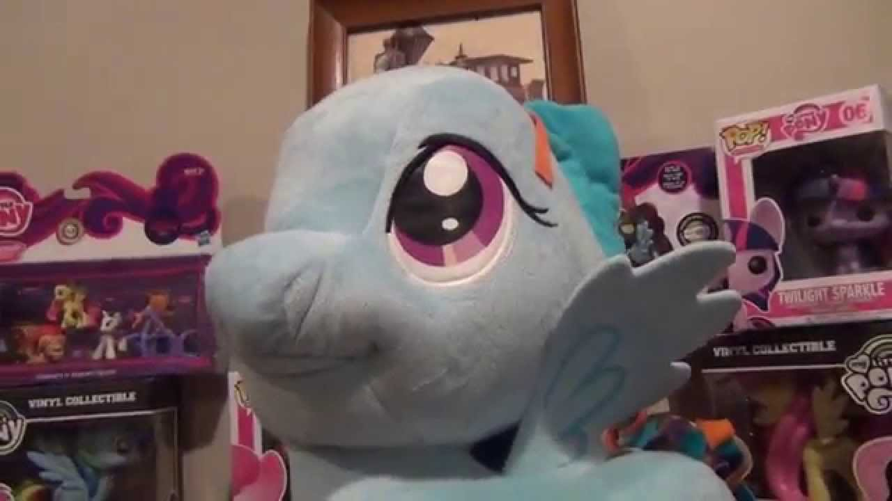 Mlp Funrise Giant 20 Rainbow Dash Plush Hd Youtube