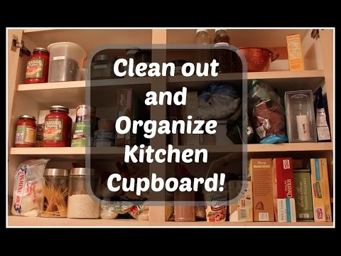 Organize Declutter Kitchen Cupboards