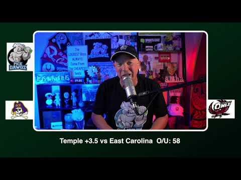Temple vs East Carolina 11/21/20 Free College Football Picks and Predictions CFB Tips Pick Dawgz