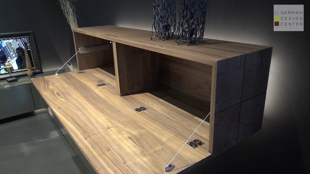 floating sideboard walnut bedroom nyc gentis by hulsta. Black Bedroom Furniture Sets. Home Design Ideas