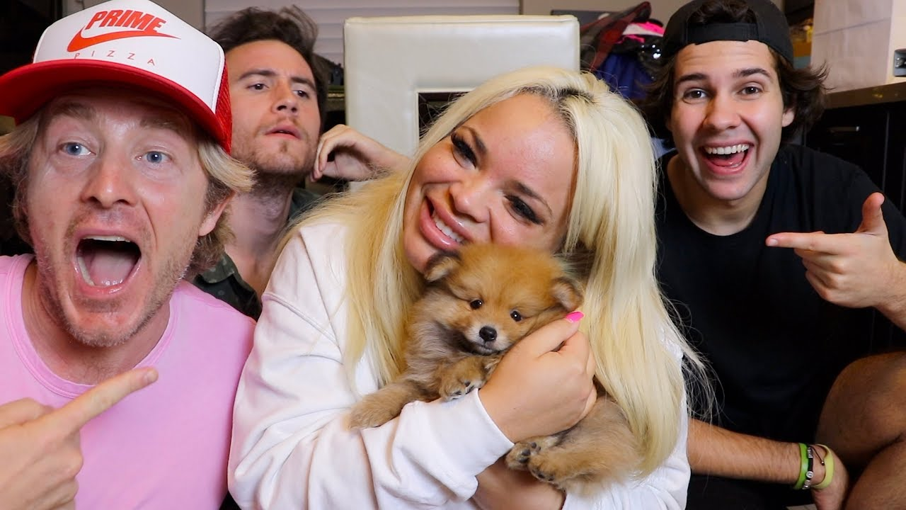 surprising-girlfriend-with-pomeranian-puppy