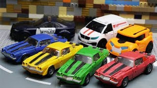Download Transformers Bumblebee Movie Animation Robot Truck Lego Gym Fail & Robbery Bank Police Car Mp3 and Videos