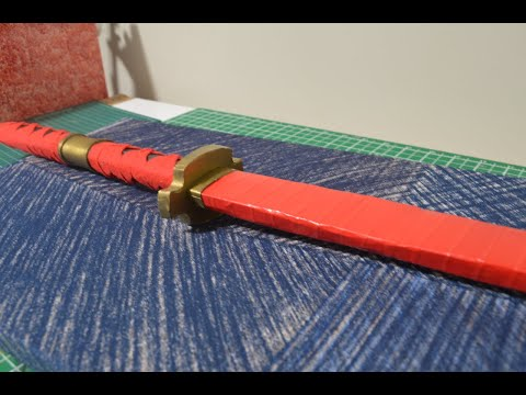 How to Make a Paper Katana (Zoro, One Piece) Speed Build