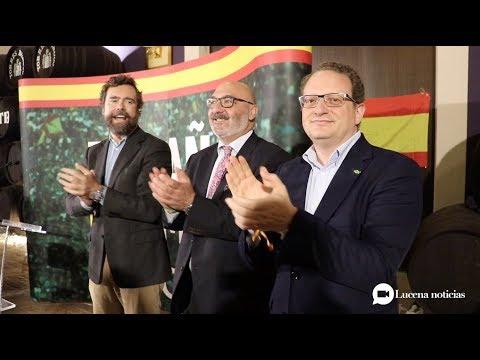 VÍDEO: Iván Espinosa, portavoz de Vox, ofrece un mitín ante más de 400 personas en Lucena