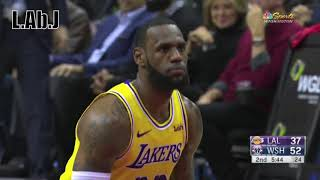 38-28 in the 2nd LeBron court-time. Wizards- Lakers full Highlights