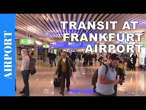 Transit walk at Frankfurt Airport, FRA Terminal 1 - Connecti