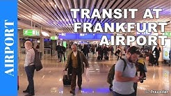 TRANSIT walk at Frankfurt Airport, FRA Terminal 1 - Connection flight transfer, arriving & departing