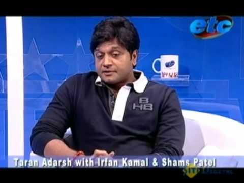Taran Adarsh with Irfan Kamal and Shams Patel